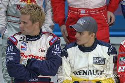 Kenny Brack and Heikki Kovalainen