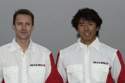 Nissan Dessoude team presentation: co-driver Sylvain Poncet and driver Jun Mitsuhashi