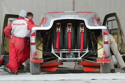 Nissan Rally Raid Team shakedown: the Nissan Pickup 2005 of Colin McRae and Tina Thorner
