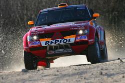 Mitsubishi Motors Repsol ATS Studios shakedown: Luc Alphand and Gilles Picard