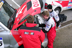 Orlen Team Ralliart Mitsubishi with Krzysztof Holowczyc and Jean-Marc Fortin