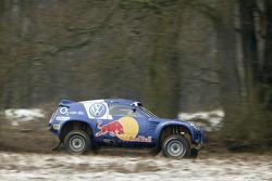 Volkswagen Race-Touareg shakedown: Juha Kankkunen and Juha Repo