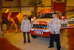 Toyota Challenge team presentation: driver Manuel Marques Paulo and co-driver Benedi Rui Rodrigues