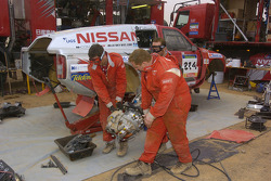 Nissan Rally Raid Team service area at the Atar bivouac