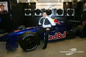 Patrick Carpentier presents the Red Bull Cheever Toyota Dallara at the Montréal Auto Show