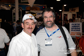 Modified champion Jamie Tomaino with Motorsport.com's Ken Plotkin