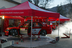 Mitsubishi Motors Motor Sports service area
