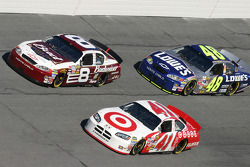 Dale Earnhardt Jr., Casey Mears and Jimmie Johnson