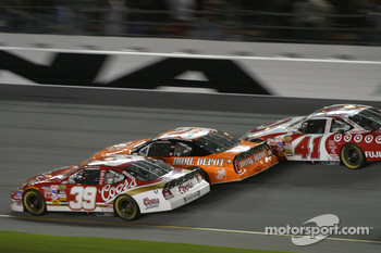 Bill Elliott, Tony Stewart and Casey Mears
