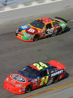 Jeff Gordon and Elliott Sadler