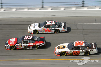 Carl Edwards, Kevin Harvick and Dale Jarrett