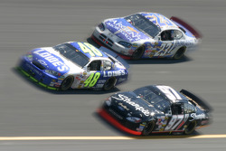 Jimmie Johnson, Kurt Busch and Mike Skinner at speed