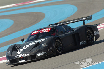 Gabriele Matteuzzi tests the Team Racing Box Maserati MC12 GT1