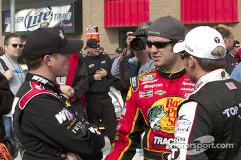 Shane Hmiel, Martin Truex Jr. and Jamie McMurray