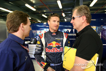 Christian Horner, David Coulthard and Dr Helmut Marko