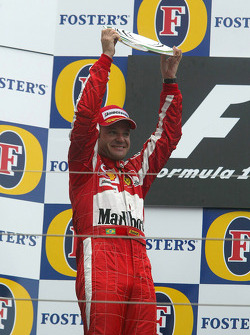 Podium: second place Rubens Barrichello