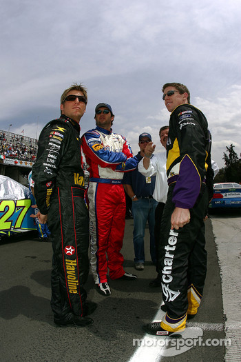 Jamie McMurray, Elliott Sadler and Carl Edwards