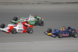 Helio Castroneves, Tony Kanaan and Alex Barron