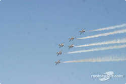 Thunderbirds fly by