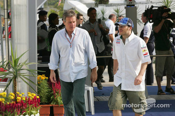 Jacques Villeneuve with manager Craig Pollock