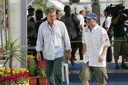 Jacques Villeneuve with manager Craig Pollock
