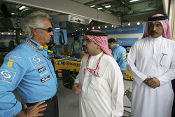 Flavio Briatore with the prince of Bahrain Salman bin Hamad