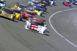 Start: #01 CompUSA Chip Ganassi with Felix Sabates Lexus Riley: Luis Diaz, Scott Pruett takes the lead