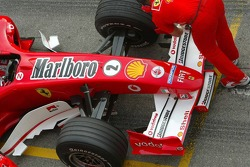Front end of the Ferrari