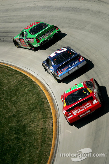 Bobby Labonte, Rusty Wallace and Jeremy Mayfield