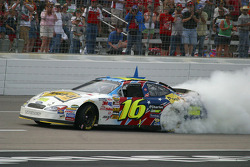 Burnout for race winner Greg Biffle