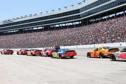 The pack enters pit road