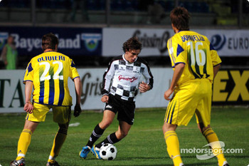 Charity football match: Michael Schumacher and Fernando Alonso