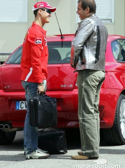 Michael Schumacher with Kai Ebel