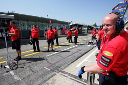 Red Bull Racing team members