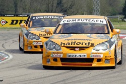 In race 2 1st and 2nd places went to Team Halfords Honda Integras driven by Dan Eaves and Matt Neal