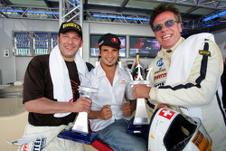 Vitantonio Liuzzi with the winners of the Maserati race