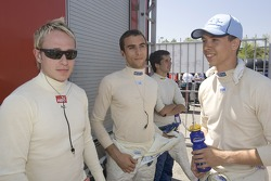 Adam Carroll, Clivio Piccione and Ferdinando Monfardini