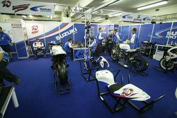 Suzuki MotoGP garage area