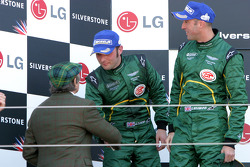 Darren Turner and David Brabham on the podium