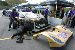 Doran Racing crew members at work