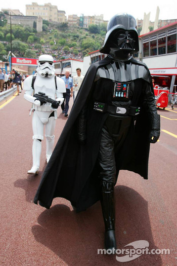 Darth Vader watches pitlane action