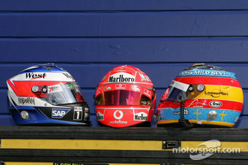 Helmets of F1 drivers photoshoot