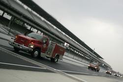 Rain on Indianapolis Motor Speedway