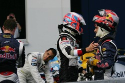 Jenson Button and Vitantonio Liuzzi celebrate