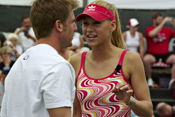 Tennis exhibition match: Jamie McMurray and Anna Kournikova