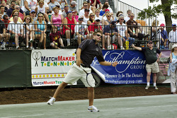 Tennis exhibition match: Boston Reid