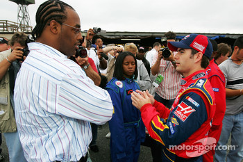 Jeff Gordon with Philadelphia Eagles quarterback Donovan McNabb