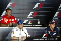 Thursday FIA press conference: Rubens Barrichello, Jacques Villeneuve and Christian Klien