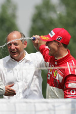 Podium: Ron Dennis and Michael Schumacher