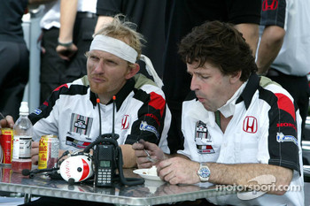 BAR-Honda team members after a hard day of work